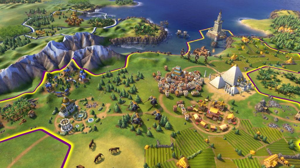 a Civilization map